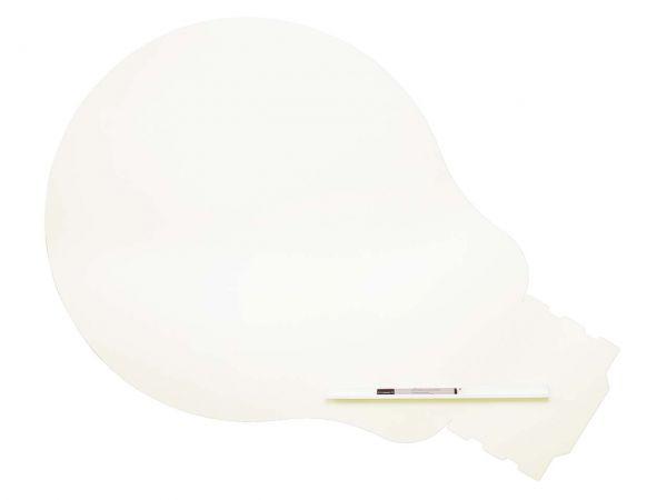 """Rocada Whiteboard """"Glühbirne"""" 75 x 115 cm, weiß"""