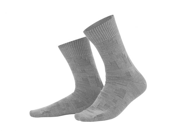 """Living Crafts Bio-Herren-Socken """"Hagen"""" grey melange, Gr. 39-42"""