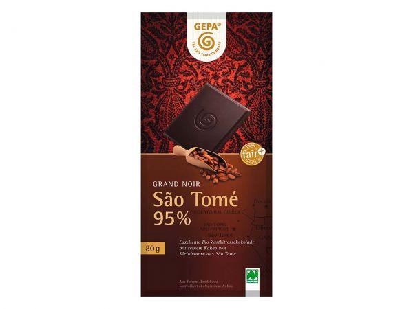 """GEPA Bio-Schokolade """"Grand Noir"""" Sao Tomé 95% 80 g"""