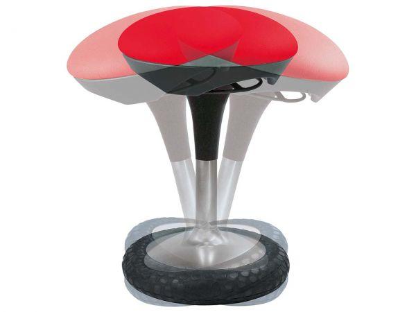 """Bewegungshocker """"Sitness"""" rot, Bezug 100 % Polypropylen"""