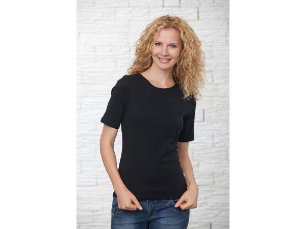 memo Damen-Shirt Gr. S schwarz 180g/m² Bio-Baumwolle mit Fairtrade-Siegel