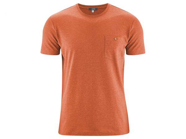 "Living Crafts Bio-Herren-T-Shirt ""Gordon"" orangeade, Gr. S"