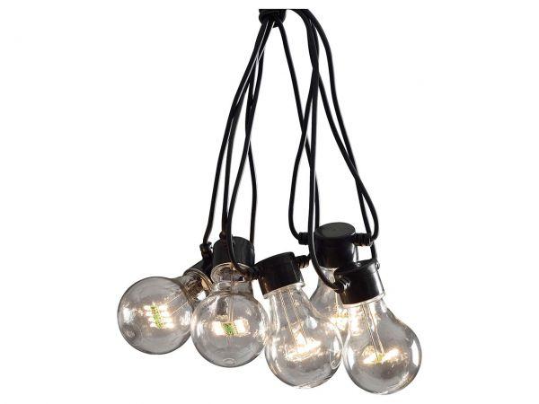 Konstsmide Klare LED-Lichterkette Starter-Set 24 V, 10 Birnen, 9 m