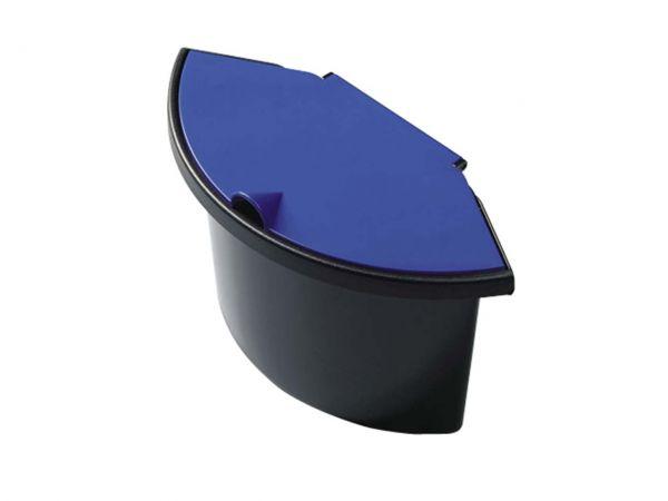 Helit Abfall-Trenneinsatz mit Deckel blau