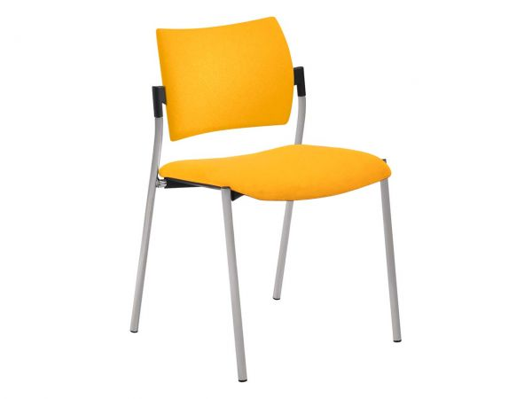 """Konferenzstuhl """"CHOICE"""" Sitz und Rücken gepolstert, ohne Armlehnen, gelb"""