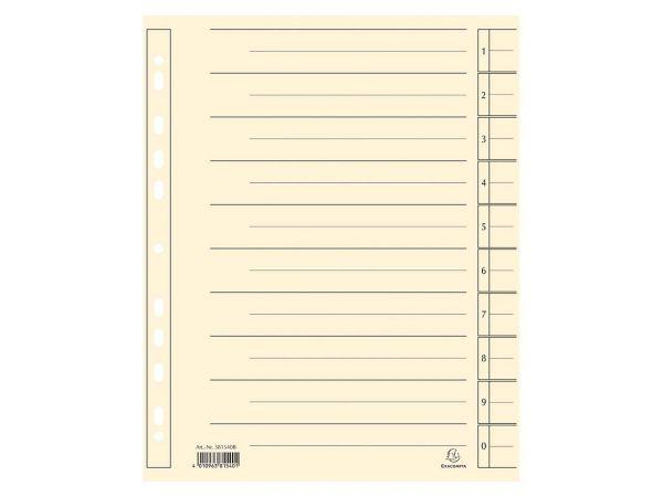 100 Exacompta Trennblätter aus Recyclingkarton chamois, DIN A4