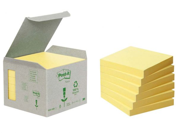 "3M Haftnotizen Kleinpackungen ""Post-it Tower"" gelb, 76 x 76 mm"