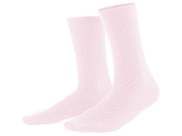 "Living Crafts 2er-Pack Bio-Damen-Socken ""Alexis"" rosé/weiß, Gr. 35-38"