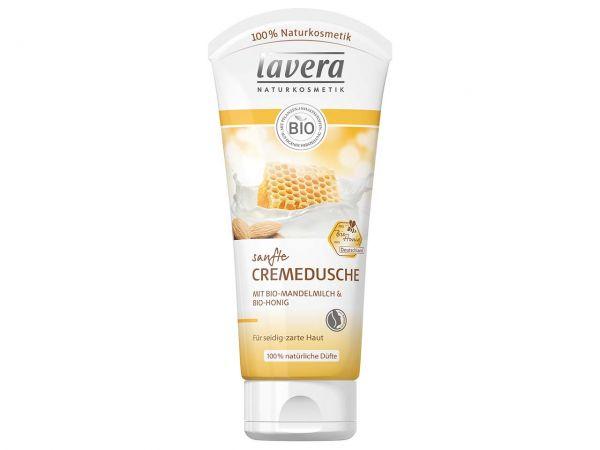 lavera Sanfte Cremedusche Bio-Mandelmilch & Bio-Honig, 200 ml