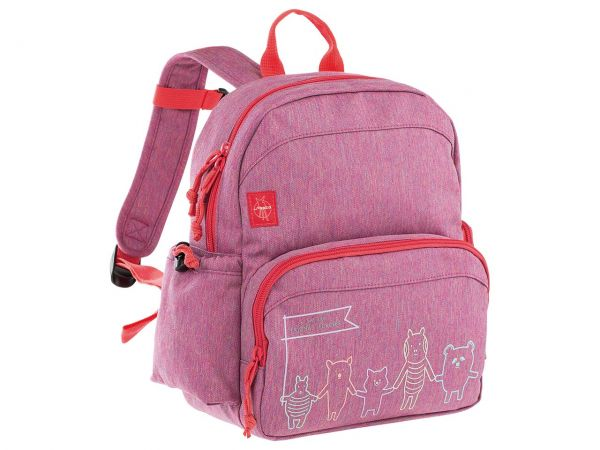 "Lässig Kindergartenrucksack ""About Friends"" Medium Backpack melange pink"