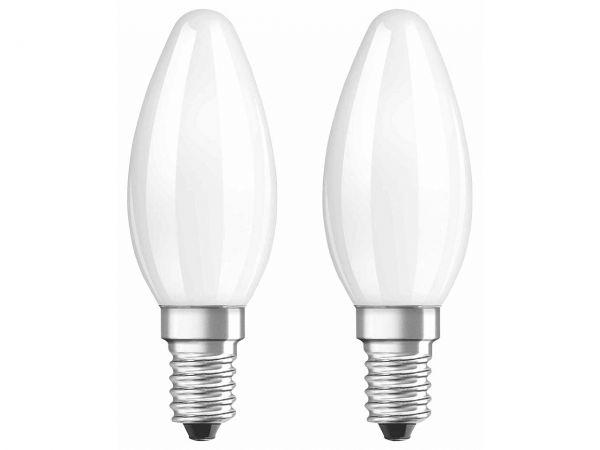 "2er-Pack OSRAM LED-Lampe ""Superstar Filament"" CLB40, 4W, E14, 470 lm, neutralweiß 4.000K,"