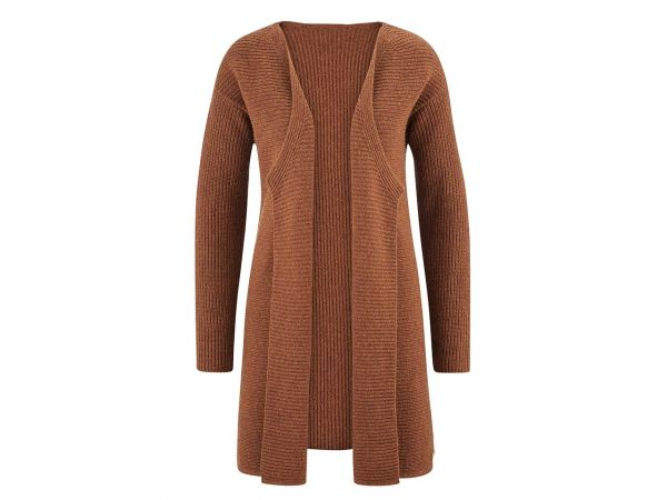 "Living Crafts Bio-Damen-Strickjacke ""Hope"" rust, Gr. XS"