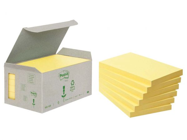 "3M Haftnotizen Kleinpackungen ""Post-it Tower"" gelb, 127 x 76 mm"