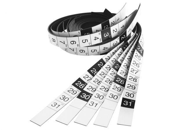 magnetoplan Kalenderstreifen für Jahresplaner 90 x 60 cm, Jahr 2019