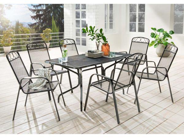 """Gartenmöbel-Set """"Luise"""" 7-teilig, 6 Sessel, 1 Tisch"""