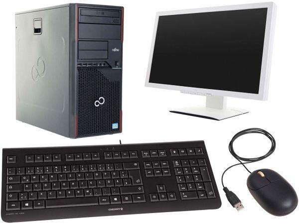 "Komplett-PC ""Esprimo P910"" i5 3570, 27"" Monitor ""P27T-6 IPS"" + Tastatur+Maus, generalüberh"