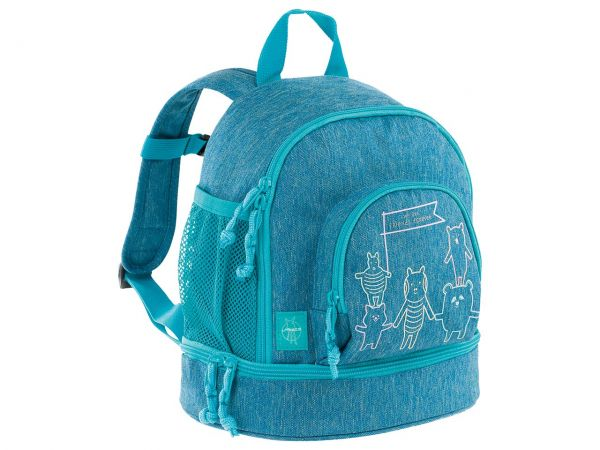 "Lässig Kindergartenrucksack ""About Friends"" Mini Backpack melange blue"