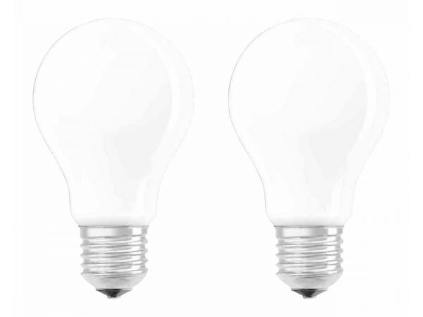 "2er-Pack OSRAM LED-Lampe ""Superstar Filament"" CLA 75, 8 W, E27, 1055 lm, matt"