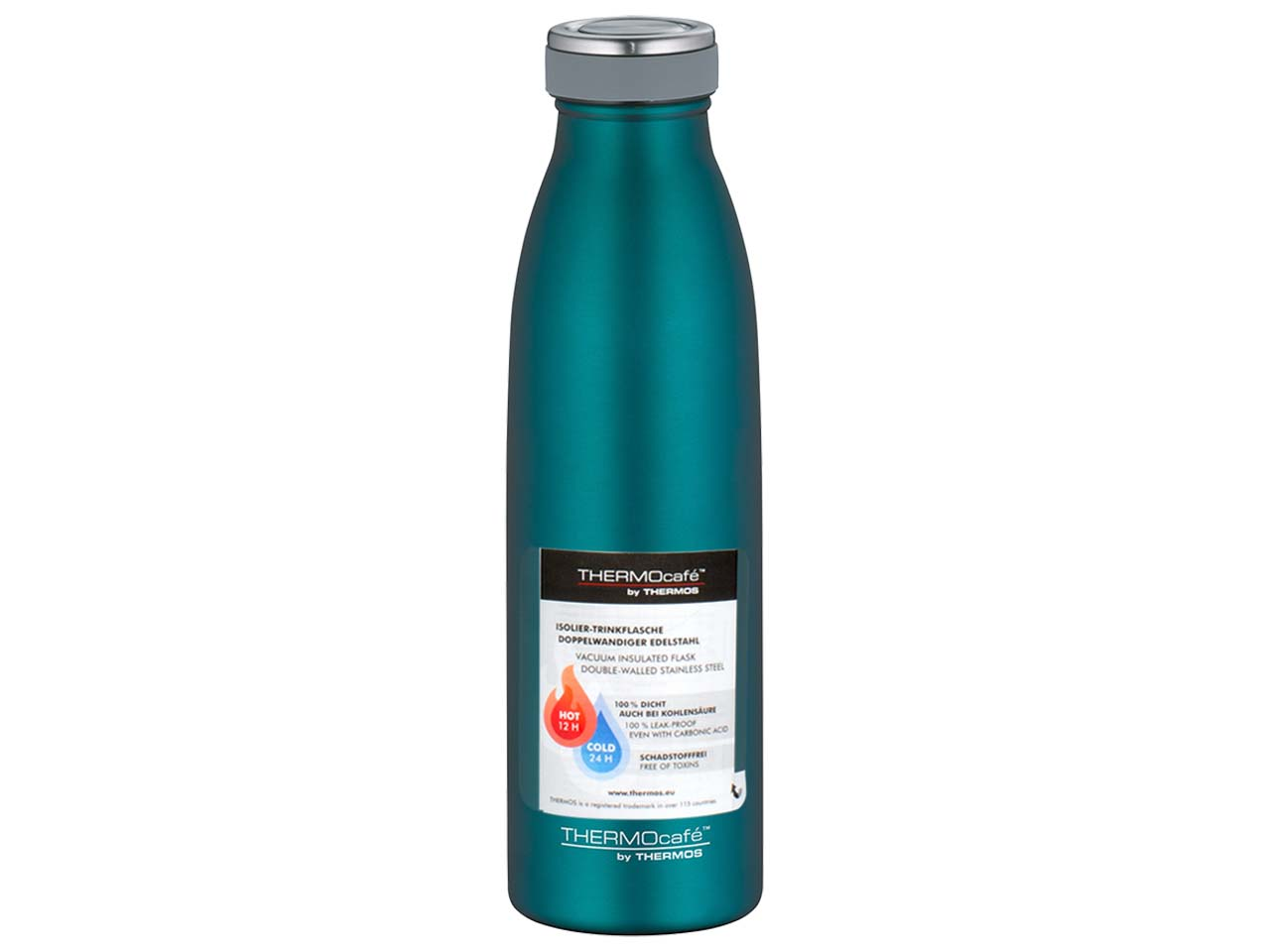 Thermos Isolier-Trinkflasche ThermoCafe 0,5 Liter Pink matt Isolierflasche