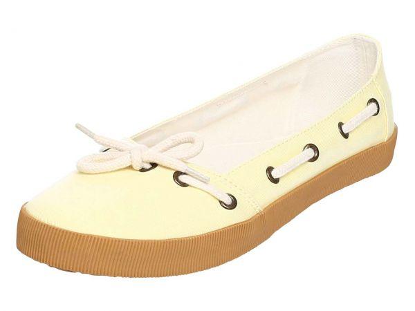 """Organic Sneaker Ballerina """"Leni"""" Gr. 37, gelb"""