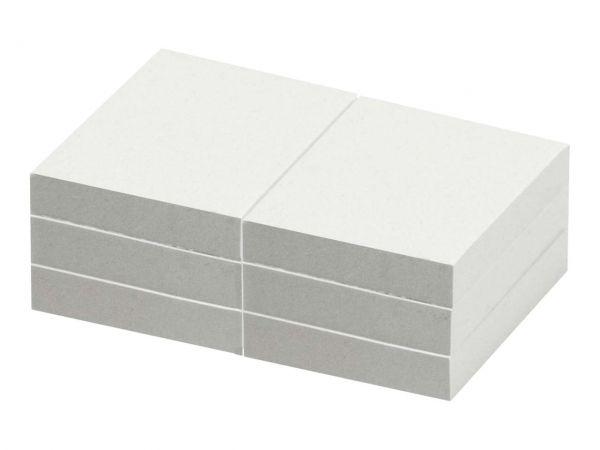 6 memo Recycling-Haftnotizen 100 Blatt 50 x 40 mm, weiß