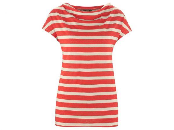 "Living Crafts Bio-Damen-T-Shirt ""Gilka"" grenadine/sand, Gr. S"