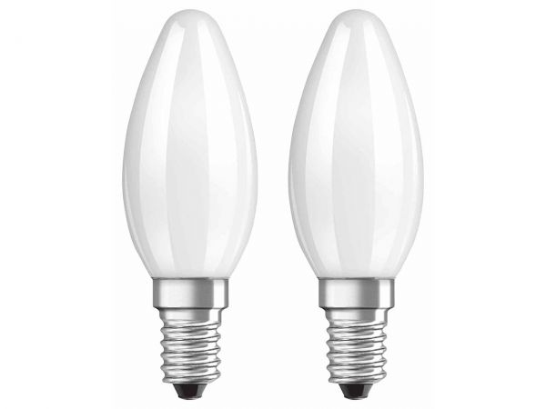 "2er-Pack OSRAM LED-Lampe ""Superstar Filament"" CLB 25, 2,8 W, E14, 250 lm, matt"