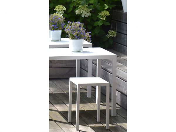 "Hocker ""Newtown"" B 32 x T 32 x H 45 cm, weiß"