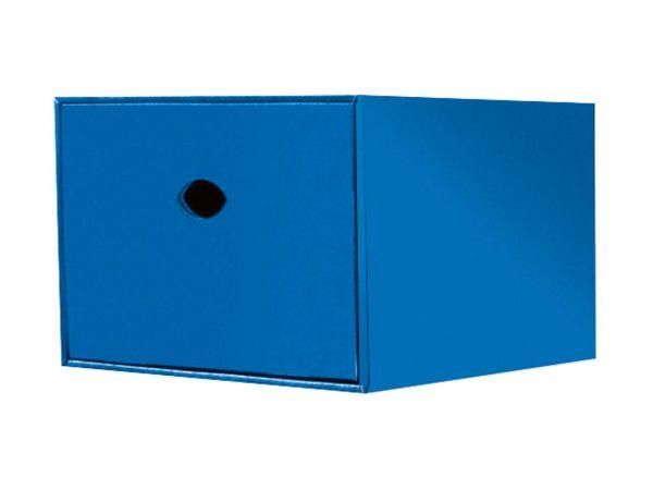 Stapelbox für DVDs, blau