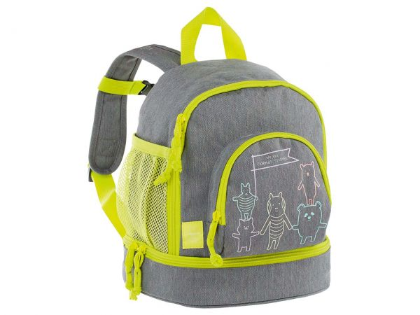 "Lässig Kindergartenrucksack ""About Friends"" Mini Backpack melange grey"