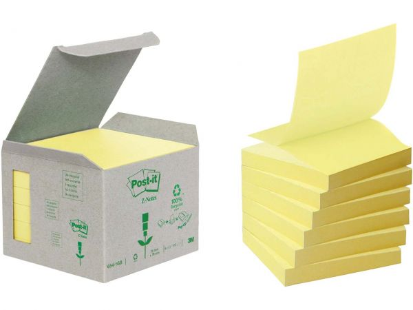 "3M Haftnotizen ""Z-Notes"" mini Tower gelb 76 x 76 mm"