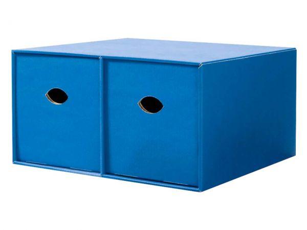 Doppel-Stapelbox für CDs, blau