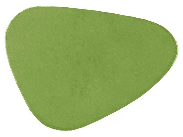 Glasuntersetzer aus Recyclingleder grün