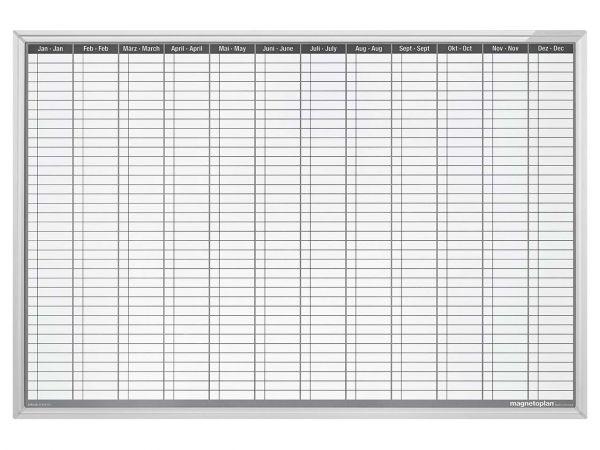 magnetoplan Whiteboard Plantafel, Jahresübersicht, B-Ware, Zustand gut