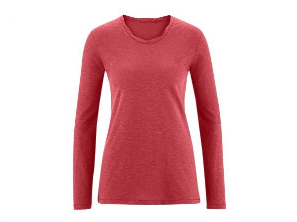 "Living Crafts Bio-Damen-Langarmshirt ""Bella"" granatrot, Gr. XL"