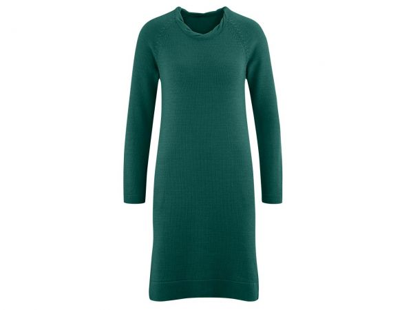 "Bio-Damen-Kleid ""Dottie"" dunkelgrün, Gr. M"